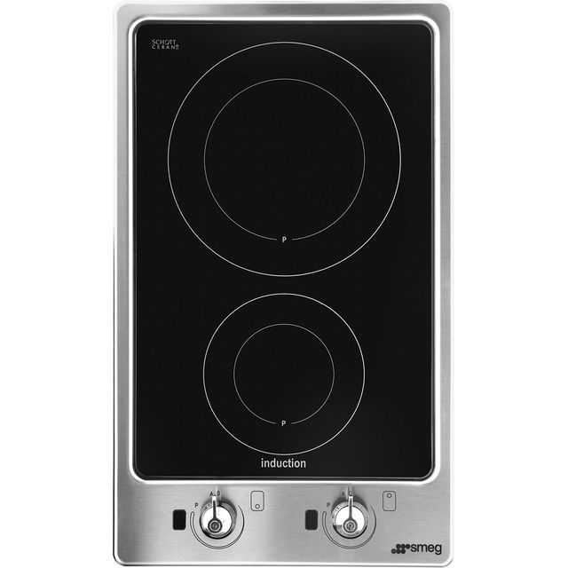 Smeg Classic PGF32I-1 51cm Induction Hob - Stainless Steel - PGF32I-1_SS - 1