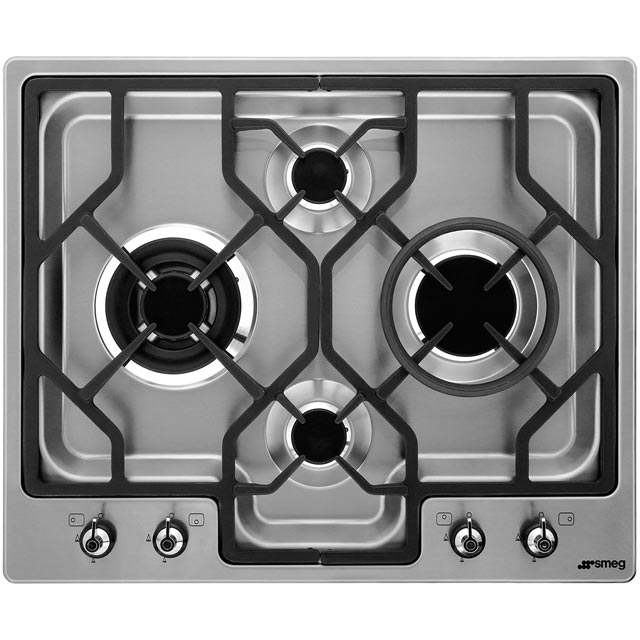 Smeg Classic PGF64-4 Built In Gas Hob - Stainless Steel - PGF64-4_SS - 1
