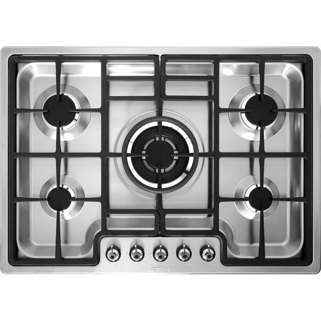 Smeg PGF75-4 Built In Gas Hob - Stainless Steel - PGF75-4_SS - 1