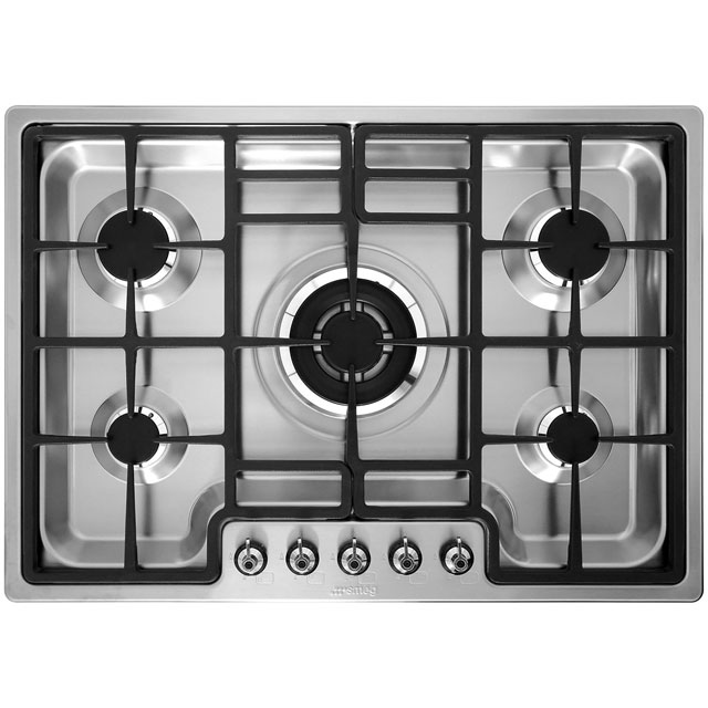Smeg PGF75-4 Built In Gas Hob - Stainless Steel - PGF75-4_SS - 3