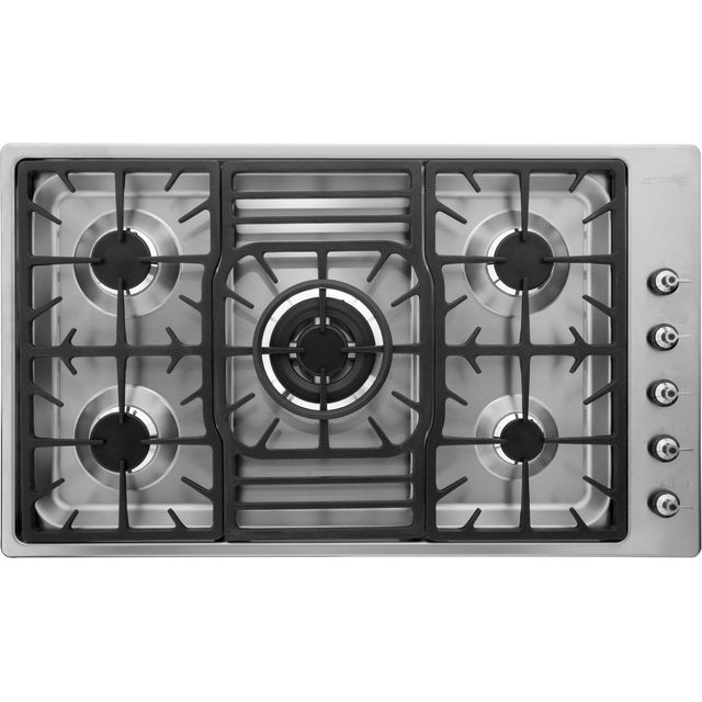 Smeg PGF95-4 Built In Gas Hob - Stainless Steel - PGF95-4_SS - 1