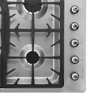 Smeg PGF95-4 Built In Gas Hob - Stainless Steel - PGF95-4_SS - 5