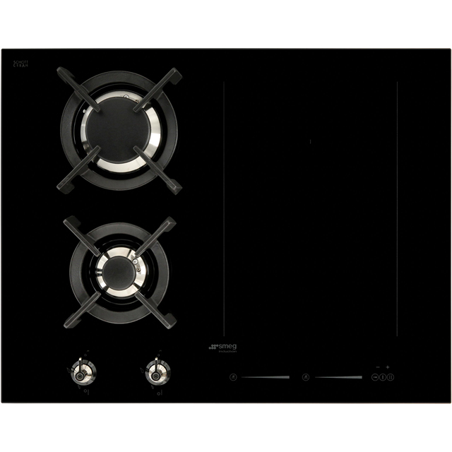 Smeg Classic PM3621WLD Built In Induction Hob - Black - PM3621WLD_BK - 1