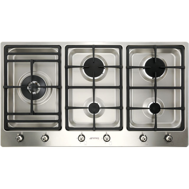 Smeg Classic PS906-5 Built In Gas Hob - Stainless Steel - PS906-5_SS - 2
