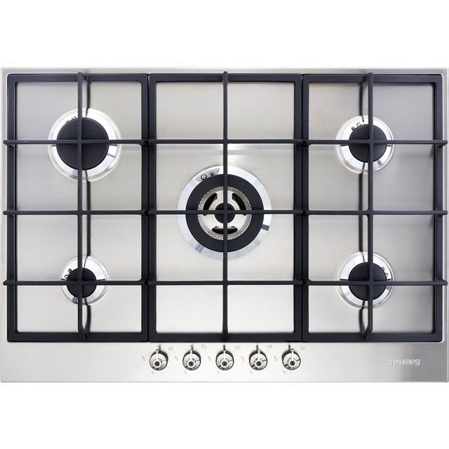 Smeg Classic PX375 72cm Gas Hob - Stainless Steel - PX375_SS - 1