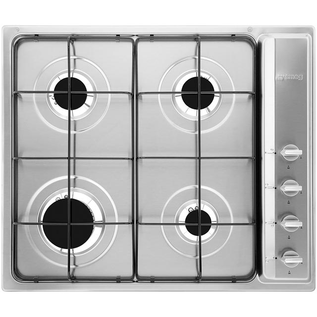 SMEG S64S Gas Hob – Stainless Steel, Stainless Steel