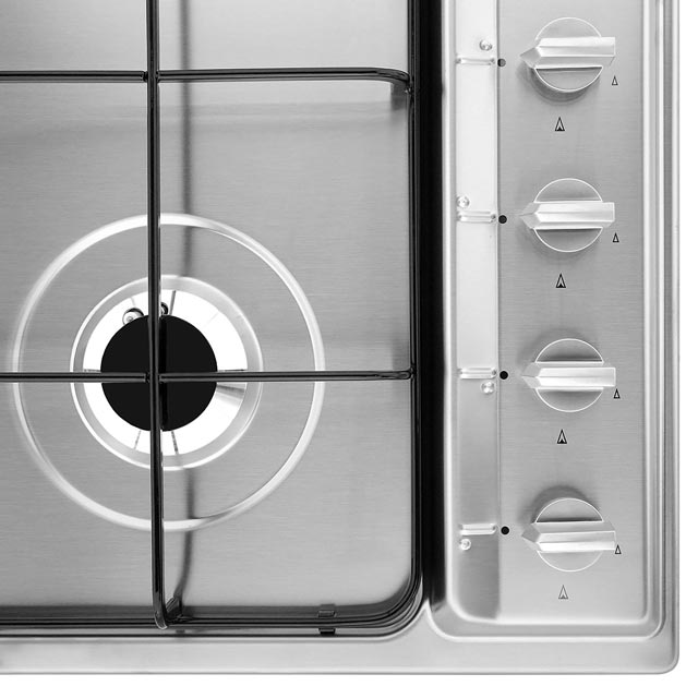 Smeg Cucina S64S Built In Gas Hob - Stainless Steel - S64S_SS - 3