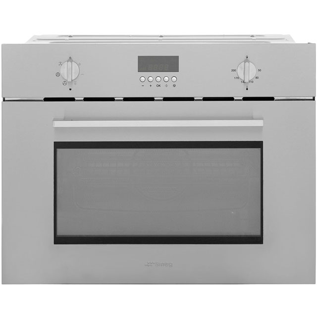 Smeg SC445MCX1 Built In Combination Microwave Oven - Stainless Steel - SC445MCX1_SS - 1