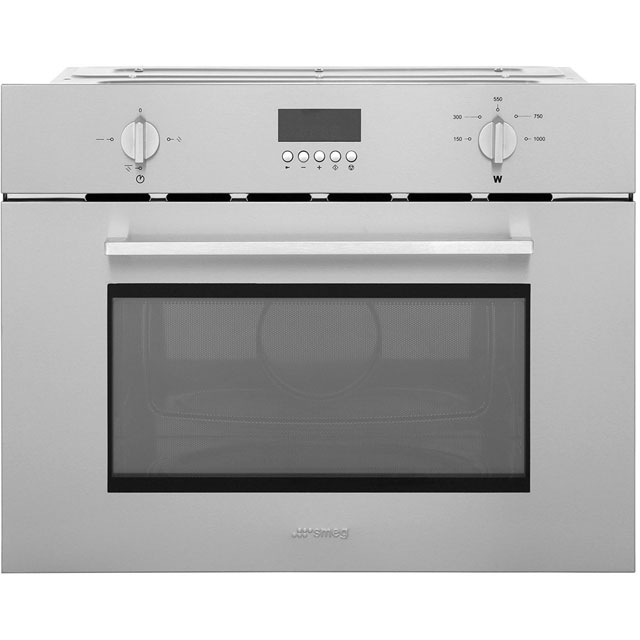 Smeg Cucina SC445MX Built In Microwave With Grill - Stainless Steel