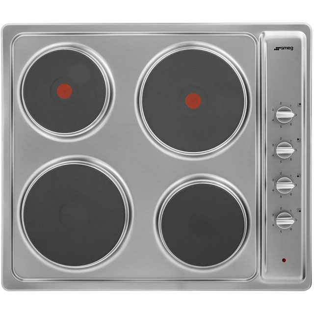Smeg Cucina SE435S Built In Solid Plate Hob - Stainless Steel - SE435S_SS - 1