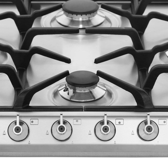 Smeg SE60SGH3 Built In Gas Hob - Stainless Steel - SE60SGH3_SS - 3