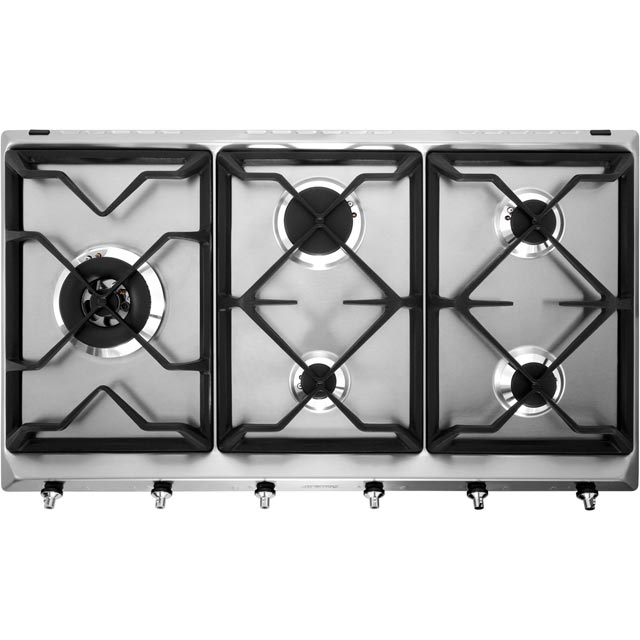 Smeg Classic SE97GXBE5 Built In Gas Hob - Stainless Steel - SE97GXBE5_SS - 1