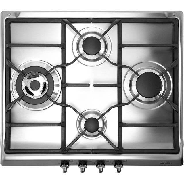 Smeg Classic SER60SGH3 Built In Gas Hob - Stainless Steel - SER60SGH3_SS - 1