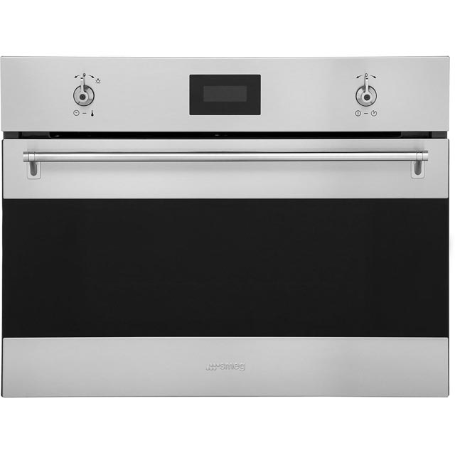 Smeg Classic SF4309MX Built In Microwave With Grill - Stainless Steel