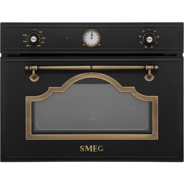 Smeg Cortina SF4750MAO Built In Microwave With Grill - Anthracite