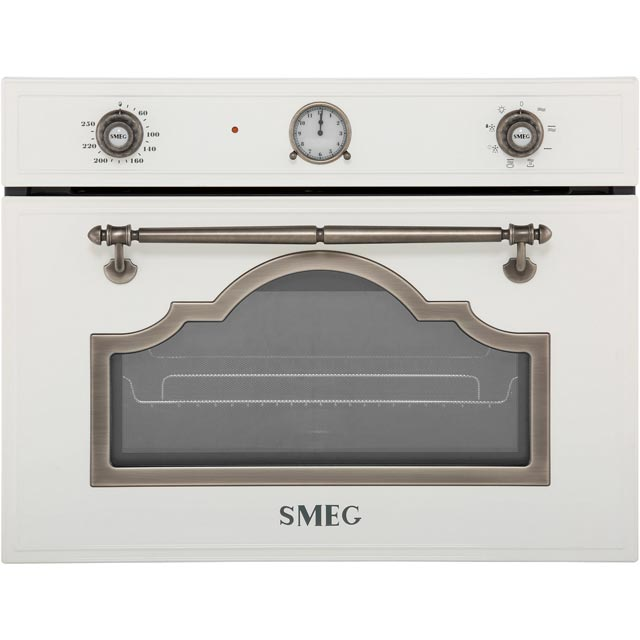 Smeg Cortina SF4750MBS Built In Microwave With Grill - White / Silver