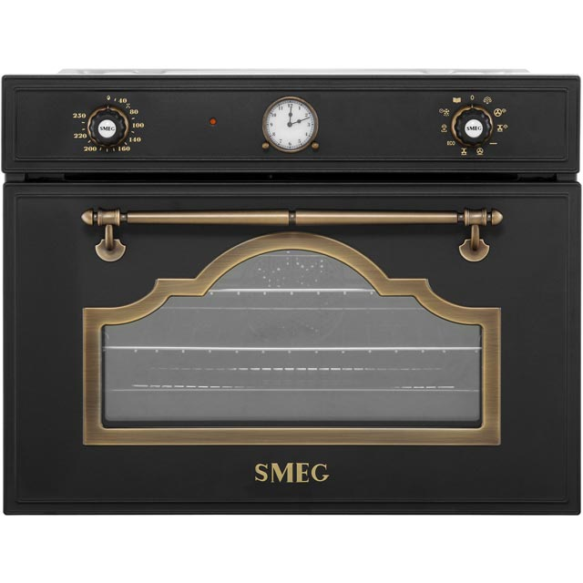 Smeg Cortina Built In Steam Oven - Anthracite