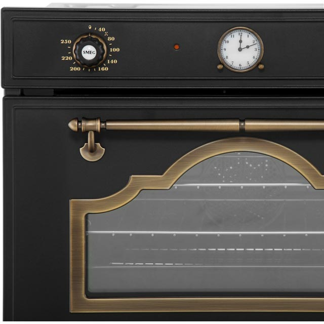Smeg Cortina SF4750VCPO Built In Steam Oven - Cream / Brass - SF4750VCPO_CR - 3