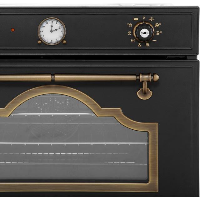 Smeg Cortina SF4750VCPO Built In Steam Oven - Cream / Brass - SF4750VCPO_CR - 4