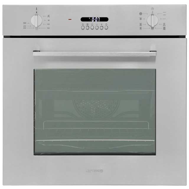 Smeg Cucina SF478X Built In Electric Single Oven - Stainless Steel - A Rated - SF478X_SS - 1