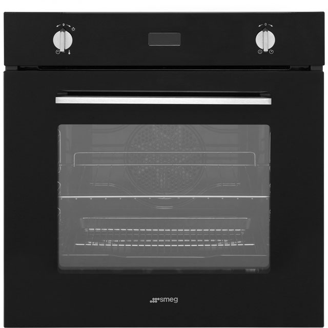 Smeg Cucina SF485N Built In Electric Single Oven - Black - A Rated - SF485N_BK - 1
