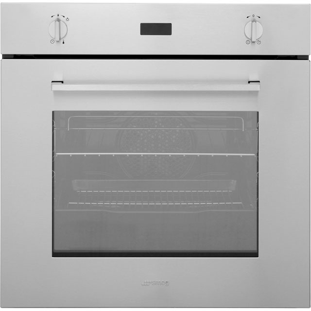 Smeg Cucina SF485X Built In Electric Single Oven - Stainless Steel - A Rated - SF485X_SS - 1