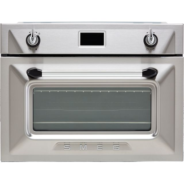 Smeg Victoria SF4920VCX1 Built In Electric Single Oven - Silver - SF4920VCX1_SI - 1