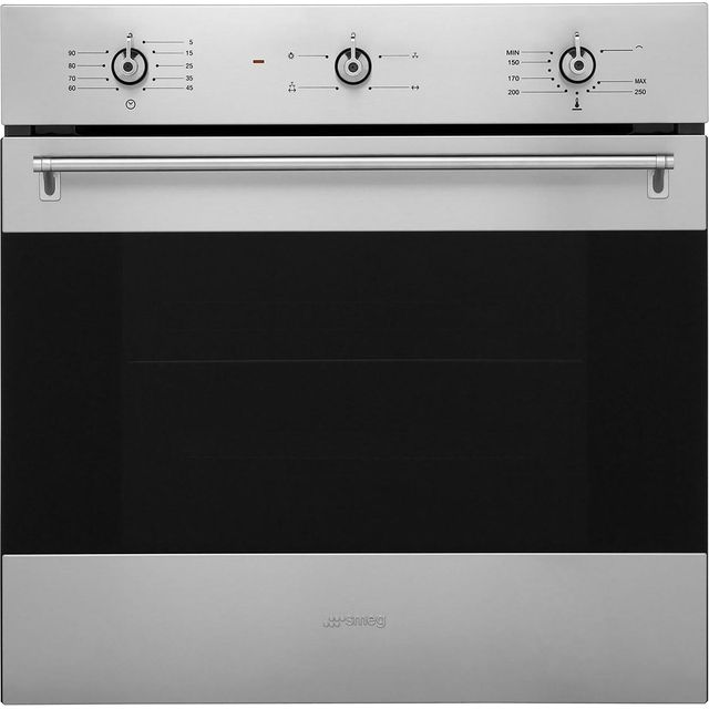 Smeg Classic SF6341GVX Built In Gas Single Oven - Stainless Steel - A Rated - SF6341GVX_SS - 1