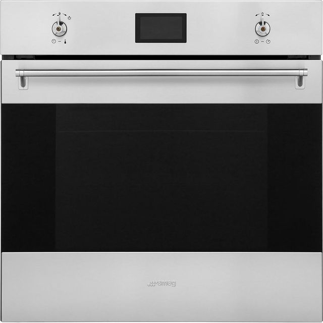Smeg Classic SF6390XE Built In Electric Single Oven - Stainless Steel - SF6390XE_SS - 1