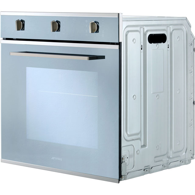 Smeg Cucina SF64M3TVS Built In Electric Single Oven - Silver Glass - SF64M3TVS_SG - 4