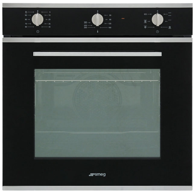 Smeg Cucina SF64M3VN Built In Electric Single Oven - Black - A Rated - SF64M3VN_BK - 1