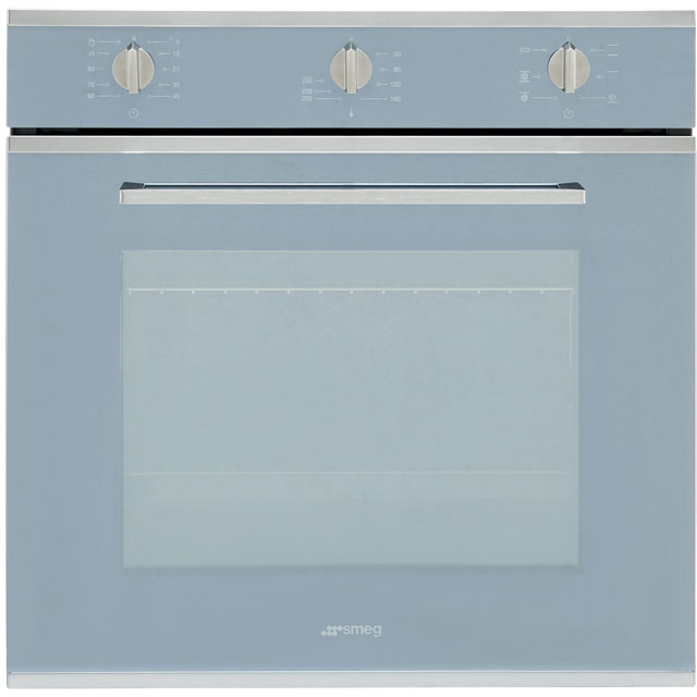 Smeg Cucina SF64M3VS Built In Electric Single Oven - Silver Glass - A Rated - SF64M3VS_SG - 1