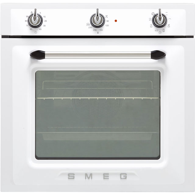 Smeg Victoria SF6905B1 Built In Electric Single Oven - White - SF6905B1_WH - 1