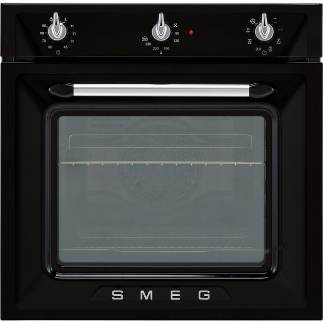 Smeg Victoria SF6905N1 Built In Electric Single Oven - Black - SF6905N1_BK - 1