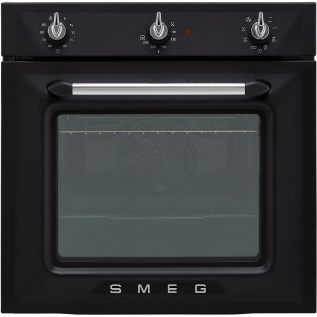 Smeg Victoria SF6905NO1 Built In Electric Single Oven - Matte Black - SF6905NO1_MB - 1