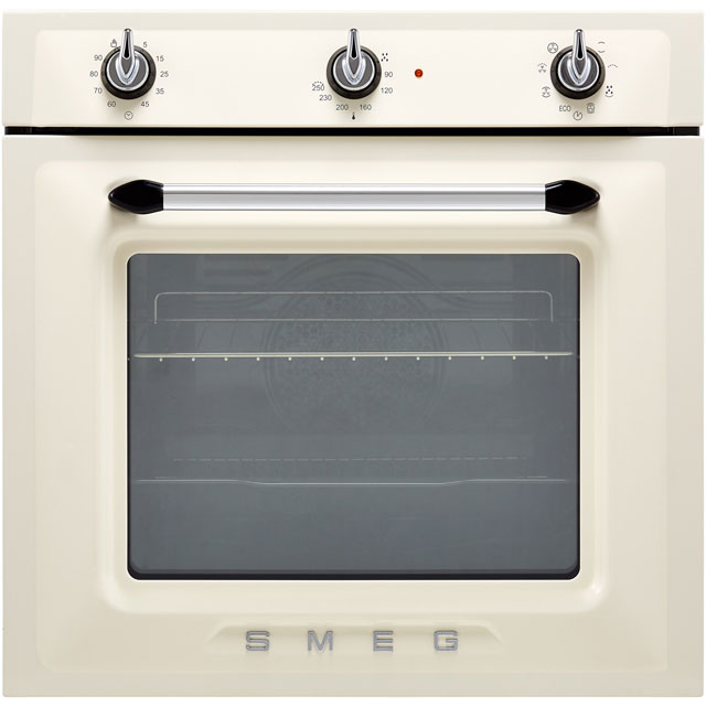 Smeg Victoria SF6905P1 Built In Electric Single Oven - Cream - A Rated - SF6905P1_CR - 1