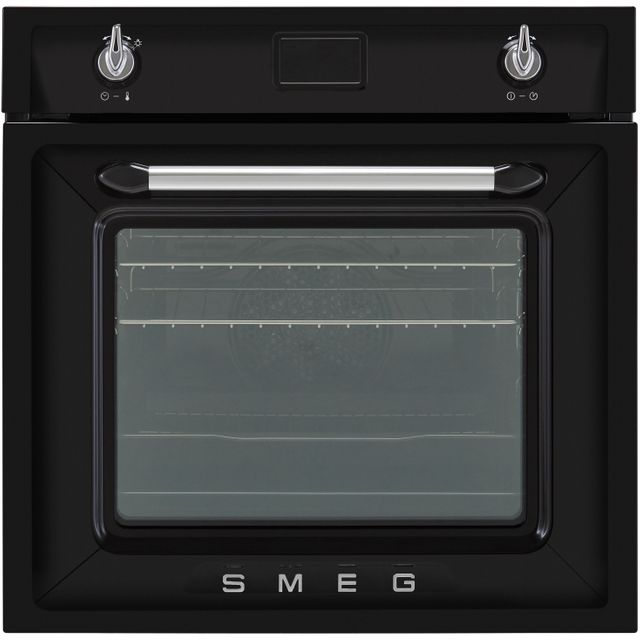 Smeg Victoria SF6922NPZE1 Built In Electric Single Oven - Black - A+ Rated
