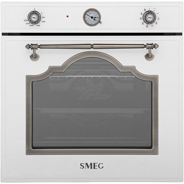Smeg Cortina SF750BS Built In Electric Single Oven - White / Silver - A Rated - SF750BS_WH - 1