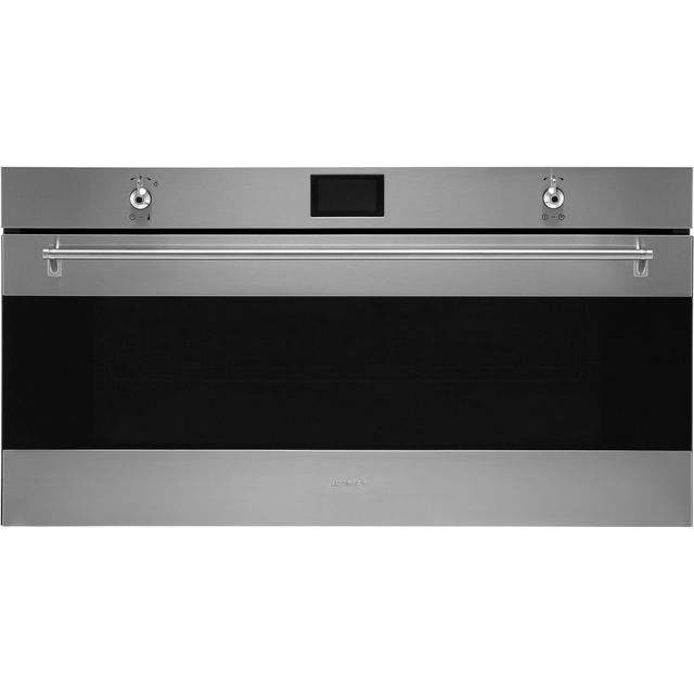 Smeg Classic SFR9390X Built In Compact Electric Single Oven - Stainless Steel - A+ Rated - SFR9390X_SS - 1