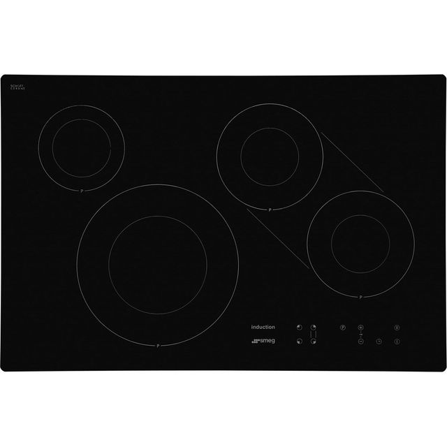 Smeg SI3842B 77cm Induction Hob - Black - SI3842B_BK - 1