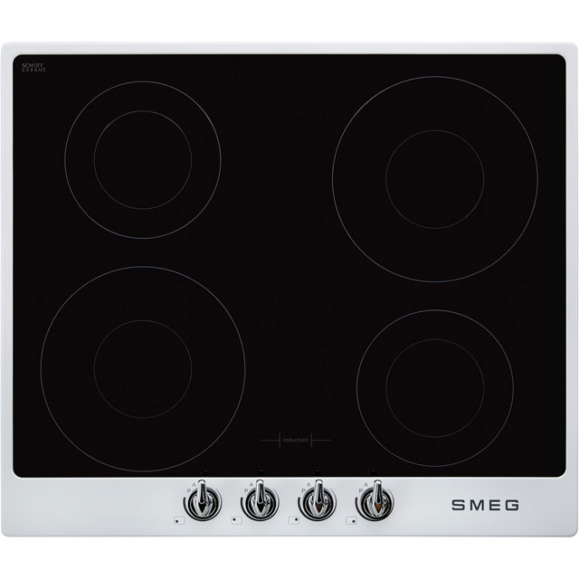 Smeg Victoria SI964BM 60cm Induction Hob - White - SI964BM_WH - 1