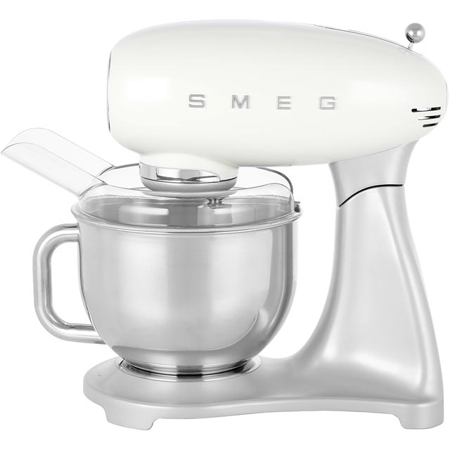 Smeg 50's Retro SMF01CRUK Stand Mixer with 4.8 Litre Bowl - Cream