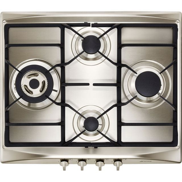 Smeg Cucina SR264XGH2 Built In Gas Hob - Stainless Steel - SR264XGH2_SS - 1