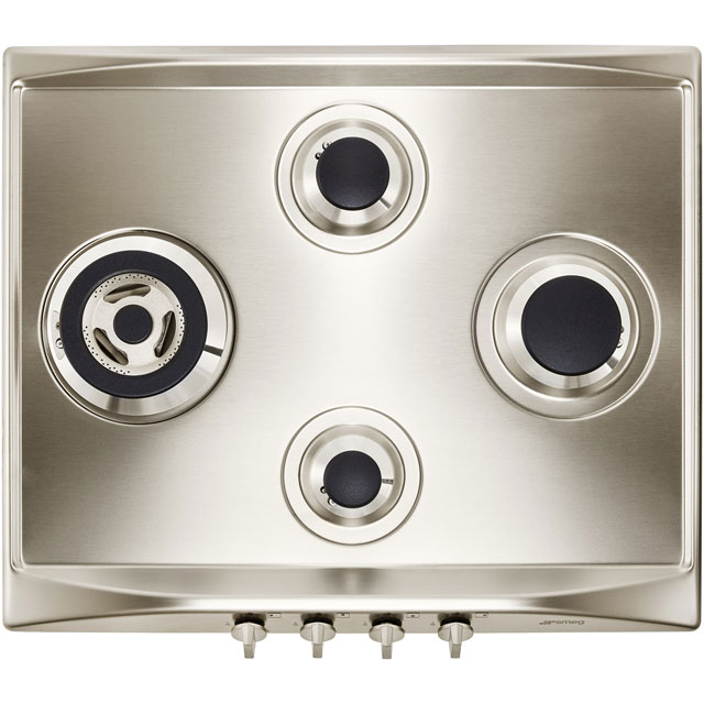 Smeg Cucina SR264XGH2 Built In Gas Hob - Stainless Steel - SR264XGH2_SS - 2