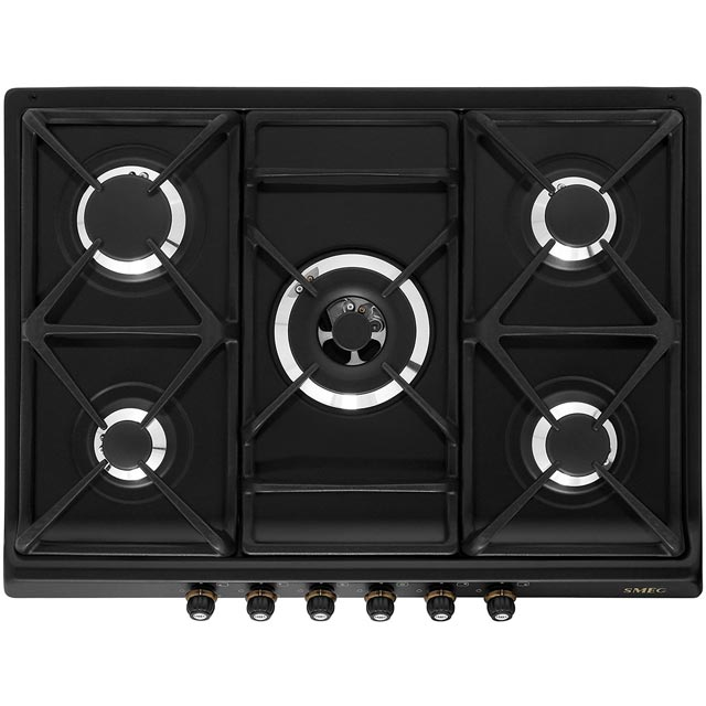Smeg Cortina 68cm Gas Hob - Anthracite