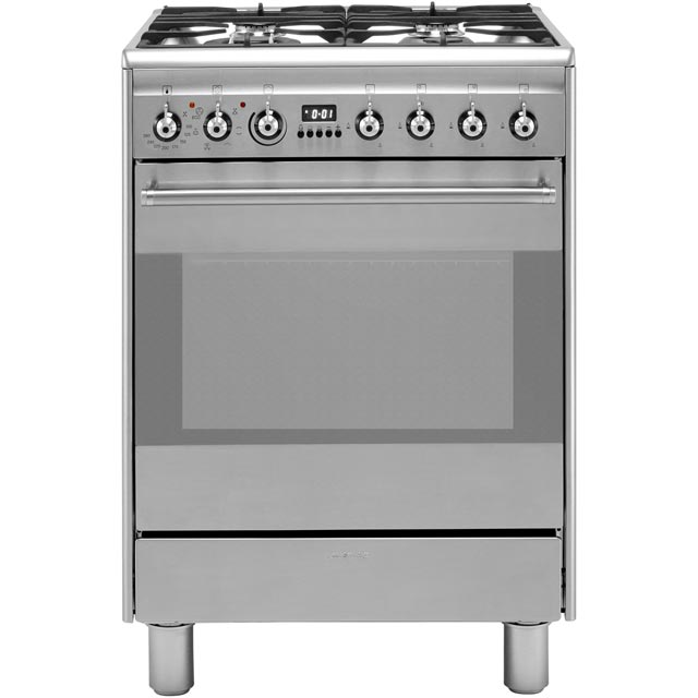 Smeg Concert SUK61MX8 Dual Fuel Cooker - Stainless Steel - A Rated - SUK61MX8_SS - 1