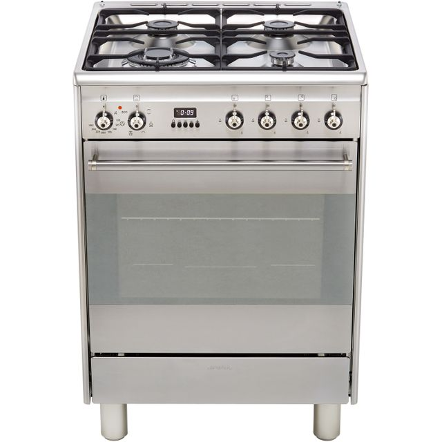 Smeg Concert SUK61MX9 60cm Dual Fuel Cooker - Stainless Steel - A Rated - Needs 2.9KW Electrical Connection
