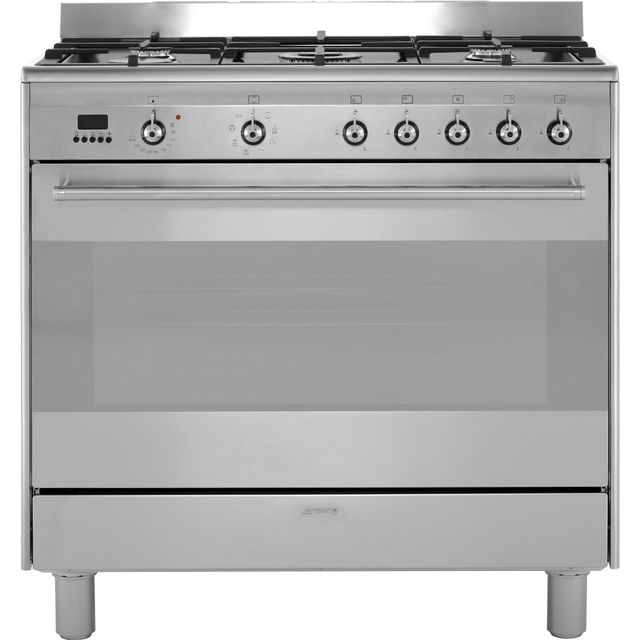 Smeg Concert 90cm Dual Fuel Range Cooker - Stainless Steel - A Rated