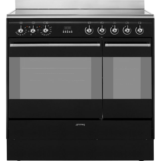 Smeg Concert SUK92CBL9 Electric Range Cooker - Black - SUK92CBL9_BK - 1