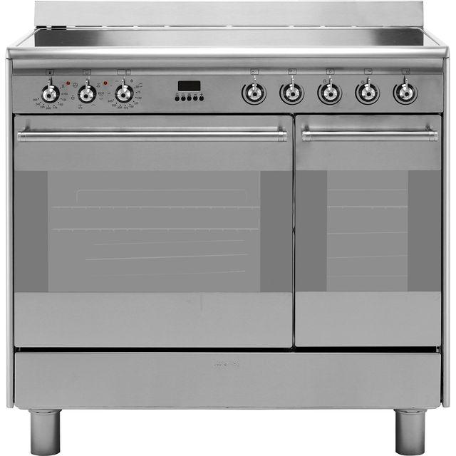 Smeg Concert 90cm Electric Range Cooker with Ceramic Hob - Stainless Steel - A Rated